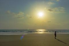 Beachwalk (sushilpatro) Tags: sunset sea summer india beach reflections sand goa stories