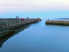 Last students doing the Gaudie, 2016 (Dunnock_D) Tags: uk sunset sea sky cloud clouds scotland pier cloudy unitedkingdom harbour fife britain northsea standrews procession breakwater gaudie