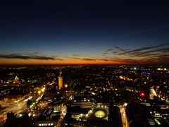 Sonnenuntergang (Tino S) Tags: sunset panorama sonnenuntergang leipzig dmmerung aussicht uniriese aussichtsplattform panoramatower