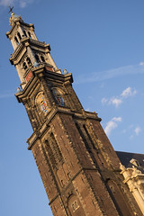 Cloch de la Westerkerk (Djof) Tags: holland tower amsterdam tour nederland belltower steeple spire netherland paysbas clocher westerkerk hollande flche westernchurch glisedelouest