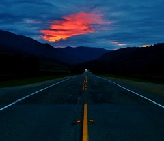 Jan3image0176 (Michael T. Morales) Tags: sunrise bigsur americanflag highway1 pacificcoasthighway elsurranch