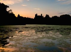 Turtle Pond (cylynex) Tags: nyc newyorkcity sunset newyork castle silhouette pond nikon dusk centralpark cp thepark turtlepond belvederecastle d800 santocommarato