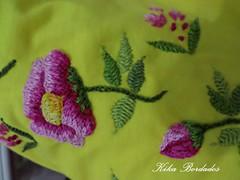 KikaBordados Kika  Krauss 086 (Kika Bordados by Angelica Krauss) Tags: pink flowers flores handmade embroidery laranja crochet tshirt amarelo bordados manualidades croche embroider feitomo camisetabordada camisetabordadamo bordadosfeitomo kikabordadoskikakrauss