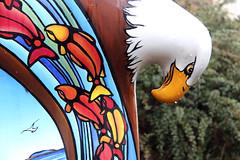 """Sea to Sky Eagle"" (detail) (ruthlesscrab) Tags: sculpture canada bc eagle publicart mapleridge rhondalaurie"