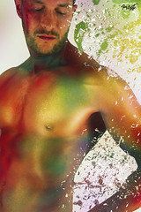 Jef Paint (tim_asato) Tags: blue boy red portrait man male men verde green stain jock colors pecs yellow azul beard rojo model muscle retrato makeup handsome hunk pit colores bodypaint modelo amarillo trunk chico guapo abs hombre barba scruff mancha maquillaje beardedmen masculino musculo marytorres timasato jeffagnard