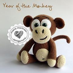Maria Martinez Amigurumi Monkey Crochet (Maria Martinez Dukan) Tags: monkey mono chinesenewyear amigurumi yearofthemonkey crochetdolls muñecosdecrochet elañodelmonodefuego