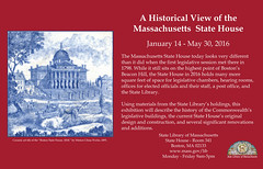 A Historical View of the Massachusetts State House (State Library of Massachusetts) Tags: capitol legislature houseofrepresentatives bostonmassachusetts massachusettsstatehouse statelibraryofmassachusetts massachusettssenate dorichall governorsoffice