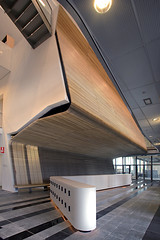 Wood Grill (Hunter Douglas Architectural) Tags: wood en amsterdam architecture grid interior rudy ceiling architectural system grill application architect herman van meyer architectuur solid linear hertzberger fnwi schooten uytenhaak