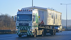RX56 EGD (panmanstan) Tags: man truck wagon yorkshire transport lorry commercial vehicle caravan freight tga haulage hgv southcave a63