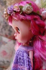 DSC_0084 (2) (Lindy Dolldreams) Tags: pink girl face rose doll profile custom blythedoll rosezie noraooakcustomblythe
