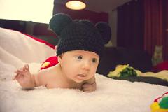 Ainhoa Mickey Mouse (Juanedc) Tags: baby girl beautiful mouse costume spain raton mickey zaragoza disfraz newborn mickeymouse aragon bebe hermosa saragossa beba ainhoa neonato valdespartera espaa nia