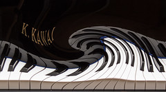 A Wave of Music - Explored with thanks (Out of action after a wrist fracture) Tags: keyboard piano distort kawai 2016alphabetchallenge