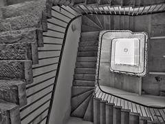 Banishment (Douguerreotype) Tags: city uk england urban blackandwhite bw london monochrome architecture stairs spiral mono britain steps gb british helix urbex