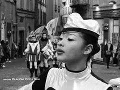 Carnevale 2016 (Claudia Celli Simi) Tags: portrait blackandwhite bw donna italia bn majorette festa carnevale ritratto viterbo biancoenero lazio ragazza parata
