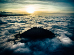 Over the clouds (Tim RT) Tags: sun 3 bird nature clouds landscape tim view hill flight phantom rt drone reutlingen achalm dji