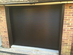 Black SWS compact roller shutter in Bexhill. January 2016