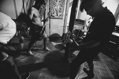 (. . .) Tags: chile show santiago light music white black blanco contraluz grey gris concert punk shadows angle y guitar no flash low guitarra negro wide hardcore sombras 2016 monochromo