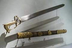 Hiebschwert, algerisch / Sword, Algeria, c. 1550 (Anita Pravits) Tags: exhibition sword khm ausstellung kunsthistorischesmuseum schwert wienvienna