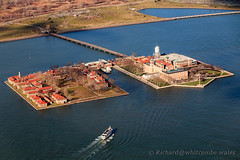 Ellis Island (WhitcombeRD) Tags: new york city nyc usa ny newyork skyline america island ellis manhattan flight aerial helicopter ellisisland