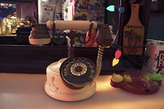 A local phone (aaugusto.ssuarez) Tags: old school man art classic bar puerto photography mirror student photographer phone or style oldschool rico if local augusto suarez santurce surez a