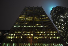 Royal Bank Plaza (Marcanadian) Tags: street plaza city winter light mist toronto ontario canada storm building tower rain fog architecture night downtown place royal bank front trust brookfield td rbc