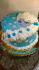 Frozen cake by Doralene, Jacksonville, FL, www.birthdaycakes4free.com