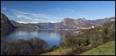 View from Monte Isola (E Starck) Tags: panorama lake landscape lago italia lac olympus panasonic monte paysage italie isola iseo m43 em5