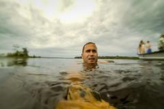 Amazon River Swim (MudflapDC) Tags: travel cruise vacation peru water rain clouds swim river amazon jungle claudio pe blackwater loreto excursion pacayasamirianationalreserve delfinii