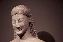 Secret Smile (LookSharpImages) Tags: sculpture chicago field museum greek fieldmuseum marble votive kouros museumcampus antiquity chicagoillinois ancientsculpture thegreeks greekhistory boeotian nationalarchaeologicalmuseumathens votivekouros thegreeksexhibit boeotianmarble