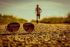 A Brief Loss of Perspective (iratebadger) Tags: summer sun blur sunshine sunglasses tarmac glasses countryside nikon focus dof shot bokeh walk yorkshire tie run depthoffield motionblur nikkor countrylane focalpoint whiteshirt d7100 eastridings nikond7100 iratebadger