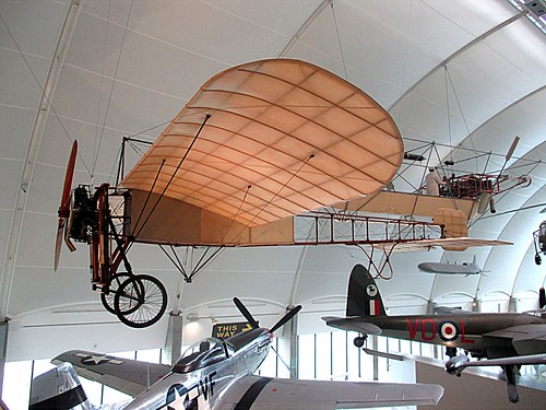 Bleriot XI 164 monoplane at RAF Museum, Hendon 05.03.16