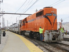 South Shore Line Derailment Scene (codeeightythree) Tags: railroad station south shoreline platform crew shops nictd catenary michigancity derailment gp382 michigancityindiana southshorerailroad southshorefreight recoverymission