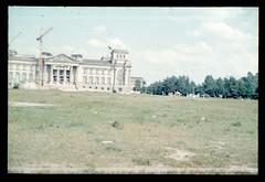 (Kaopai) Tags: west color berlin vintage wiese dia 1966 baustelle ruine reichstag architektur farbe kran farbig umbau westberlin historisch westen farbfoto farbdia