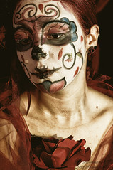 Silvia (SoloImmagine) Tags: face painting mexico skeleton skull paint mexican diadelosmuertos calavera calaca