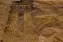Dream Parchment (MPnormaleye) Tags: urban illustration arch drawing antique doubleexposure gothic columns entrance illusion utata trick 24mm effect rendering beauxarts