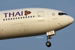 "Thai Airways B777-2D7 HS-TJF ""Phanom Sarakham"" at BKK Airport (bay_vijitakula) Tags: plane thailand airport bangkok aviation flight landing thai boeing airlines bkk tg thaiairways bangkokairport b777 staralliance trent800 b777200 bkkairport nationalcarrier hstjf"