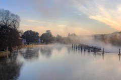 Misty Sunrise (Lumenoid) Tags: thames marlow bridge weir sunrise mist reflections river morning elitegalleryaoi bestcapturesaoi