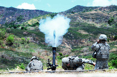 U.S. Soldiers Fire an M252 81mm Mortar During Exercise Balikatan (#PACOM) Tags: philippines ph usnavy marinecorps usairforce afp usarmy balikatan asiapacific strykerbrigade shouldertoshoulder icorps fortmagsaysay bk16 pacificrebalance pacificmarines usphl 12sbct