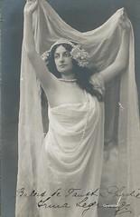 LEGRAND, Irma, chorype, Faust (Operabilia) Tags: ballet opera autographe faust monnaie gounod claudepperna claudepascalperna irmalegrand