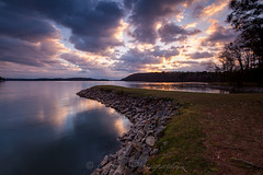 Reflective Morning at Keith Bridge (John Cothron) Tags: longexposure sky usa cloud reflection nature grass rock clouds digital sunrise georgia landscape morninglight us spring outdoor unitedstatesofamerica gainesville scenic lakeshore thesouth peninsula dixie 15mm lakelanier carlzeiss cloudyweather hallcounty americansouth southernregion 35mmformat johncothron canoneos5dmkii southatlanticstates leefiltersystem cothronphotography keithbridgepark 3stopneutraldensityfilter 3stopsoftedgegraduatedneutraldensityfilter distagon1528ze lee90nd lee90gs zeissdistagont2815mmze ©johncothron img13385160320 reflectivemorningatkeithbridge