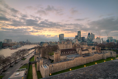 Tower of London...and beyond! (Hemzah Ahmed) Tags: city sunset london tower castle thames architecture skyscraper canon river nightimages nightscape skyscrapers towers stpauls sunsets londoneye ferris nighttime hmsbelfast nightlight 7d ferriswheel stpaulscathedral timeout riverthames gherkin falklands 1022mm hdr highdynamicrange toweroflondon warship walkietalkie stmaryaxe cheesegrater londonist londontown canon1022mm londonatnight squaremile canon1022 londonbuildings londonarchitecture londonbylondoners falklandswar londontowers leadenhallst timeoutlondon herontower canon7d triggertrap planet7d