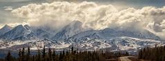 These roads were paved with the golden song (frostnip907) Tags: panorama mountain mountains alaska alaskarange richardsonhighway transalaskapipeline stitchedpanorama transalaskapipelinesystem f64g75r5win