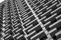 235 Van Buren Balconies (Abhijit B Photos) Tags: blackandwhite bw chicago abstract monochrome architecture buildings mono industrial balcony structure balconies stacked tallbuildings chicagobuildings chicagoarchitecture chicagodowntown residentialbuilding nikond90 235vanburen