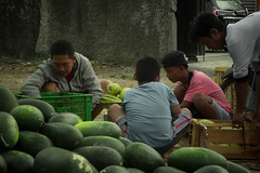 Market Activity (HaritsGraphic) Tags: street people market watermellon