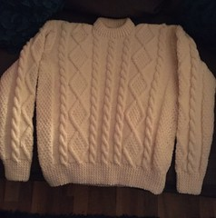 Cream aran sweater (Mytwist) Tags: irish white heritage classic wool fashion fetish vintage cozy sweater fisherman warm fuzzy cream ivory craft passion fishermans heavy oats honeycomb aran timeless authentic handcraft chunky crewneck vouge handknitted cabled aransweater handgestrickt aranjumper aranstyle maggsieboo