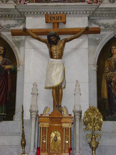 Sto. Cristo, Altar Mayor, Parroquia de Santa Cruz y la Soledad, Cdad. de México, CDMX.