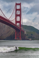 Urban Surfing (pixelmama) Tags: ocean sanfrancisco california bridge clouds waves surfing explore goldengatebridge fortpoint ggb urbansurfing pixelmama putabirdonit surfsesh