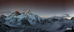 Everest_Panoramic_Available for Digital/Print Copy (photosbyrabi) Tags: nepal landscape outdoor glacier climbing khumbu everest himalayas lhotse nuptse mteverest expeditions gorekshep kalapatther
