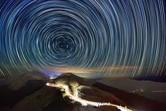 合歡山石門山~彩色星軌~  Color Startrails (Shang-fu Dai) Tags: night nikon taiwan scene 南投 formosa 台灣 starry startrails d800 合歡山 nantou hehuan 星軌 石門山 主峰 3237m afs1635mmf4 彩色星軌