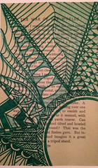 Book page art zentangle :) (batsap) Tags: drawing waroftheworlds zentangle bookpageart